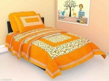 Sanganeri Scenic Printed Single Bedsheets Vol 4